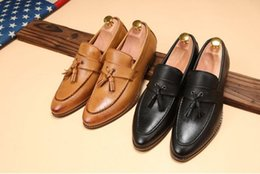 Famous male shoes online shopping - 2019 New mens pointed toe dress shoes famous loafer male gents formal wear ballet flats zapatos hombre oxford shoes for men DH2N48