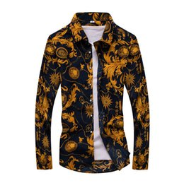 7c0b9240 Men Long Sleeve Shirts Spring and Autumn Homme Casual Printed Hawaiian  Shirts Plus Size Male Shirts M-5XL