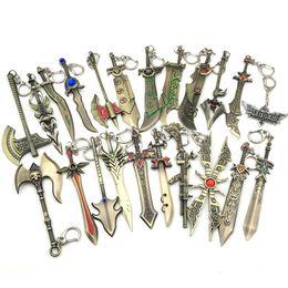 $enCountryForm.capitalKeyWord Canada - LOL Game Weapon Metal Keychains Key Chain League of Legends Sword Gun Lol Weapons Pendant Keychain Keyrings Zinc Alloy Keyring 20PCS