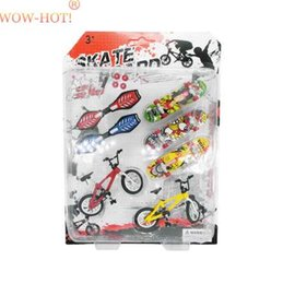 $enCountryForm.capitalKeyWord Australia - WOWHOT Plastic Bicycle Finger Skateboard Toys for Children Sets,Funny Mini Fingers Toy Fingerboards Toys for Kids Birthday Gift