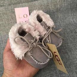77c0dcf52 2018 Zapatos de bebé de invierno Niños y niñas recién nacidos Botas de nieve  cálidas Zapatos para niños pequeños Prewalker 0-1T