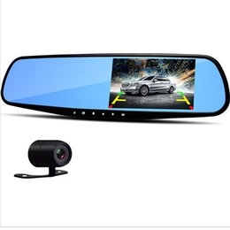 $enCountryForm.capitalKeyWord Australia - Hot 4.3 Inch Car DVR Rearview Mirror DVR Camera Dual Lens Full HD 1080P Video Registrator Recorder Dash Cam Auto Driving Date Recorder