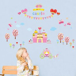 Chinese 3d Wall Stickers Australia - Fancy THE FAIR CASTLE Wall Stickers Wallpaper Paper Peint 3d Home Decor Bathroom Kitchen Accessories Household Suppllies