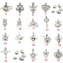 Steel pearl online shopping - Fashion Jewelry Silver Pearl Cage Jewelry Locket Pendant Findings Cage Essential Oil Diffuser Locket For Oyster Pearl