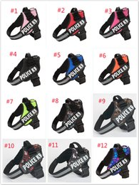 Wholesale Dog leash chest back sets of large collar harness chain safety belt pets traction rop pet strap rope for puppy S M L