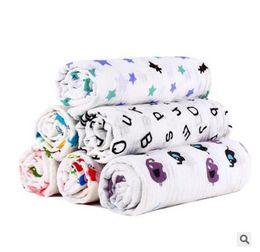 $enCountryForm.capitalKeyWord UK - Blankets Kids Fox Muslin Cotton Giraffe Patterns Girls Boys Clothes Newborn Swaddle Muslin Infant Towel Baby Wrap