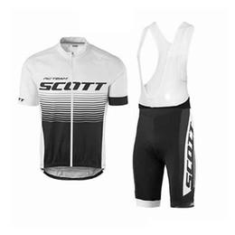 Scott Bike Bibs UK - SCOTT team Cycling Short Sleeves jersey bib shorts sets 2019 men Quick Dry summer bike gel pad ropa ciclismo Bike Wear U53133