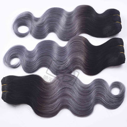 Gray bundles online shopping - Straight Virgin Human Hair Bundles Ombre b gray Peruvian Human Hair Weave Gray Ombre Hair Extensions Non Remy