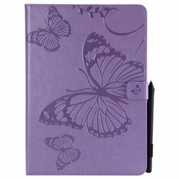 $enCountryForm.capitalKeyWord NZ - Fashion Butterfly Wallet Leather Case For Ipad Air 2 5th 6th Pro 9.7 2017 2018 10.5 Mini 1 2 3 4 Tablet Colorful Card Stand Skin Cover 60pcs