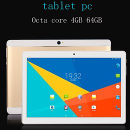 Frete Grátis 10.1 polegada Octa núcleo 4 GB 64 GB Android 7.0 4G LTE smartphone tablet pc 1920 * 1200 HD IPS wifi GPS Bluetooth tablets