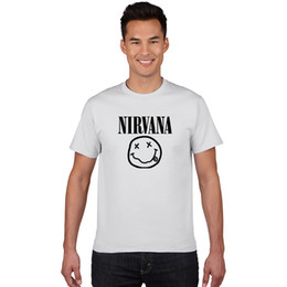 Cool Printed Tshirts Canada - 100% cotton T-shirts Men Women Summer cool Tops Tees nirvana Print cozy T shirt Men loose o-neck short sleeve Fashion Tshirts