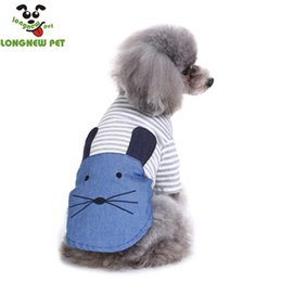 Dresses Apparel Canada - Dog Apparel Lovely Cat Dresses Puppy Clothes With Stripe Cute Dog Skirt Free Shipping Soft Cotton Lovely Pet Cat Clothe