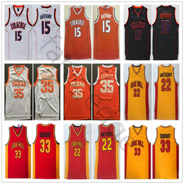 13f381001 NCAA Syracuse Carmelo Orange #15 Anthony Oak Hill High School 22 Anthony 33  Durant Texas Kevin Longhorns 35 Durant College Basketball Jersey