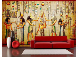Wholesale Murals 3d Wallpapers Home Decor Photo Background Wallpaper  Ancient Egyptian Celebration Classical TV TV Background Wall Art Mural