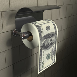 ToileT papers rolls online shopping - 3Pieces Funny Toilet Roll Paper One Hundred Dollar Bill Toilet Paper Home Gag Gift