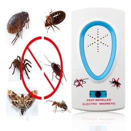 ElEctronics ac online shopping - 2 w Eu Plug Ac v White Pest Repeller Electronic Ultrasonic Mouse Rat Mosquito Insect Rodent Control Drop Shipping
