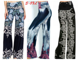 $enCountryForm.capitalKeyWord NZ - 2018 Newest plus size women fashion floral printing high waist wide leg palazzo pants lady flower long pants