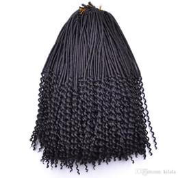 Chinese  20 inch Crochet Kanekalon Fiber Dreadlocks Hair Afro Fashion Synthetic Crochet Braiding Hair Curly Faux Locs Weaving 24roots lot manufacturers