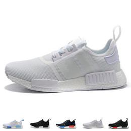 97326183a8ad9 2018 Hot Brand NMD R1 Oreo Runner Nbhd Primeknit OG Triple Black White  Running Shoes Men Women Nmd Runner Sports Shoe Size 36-45