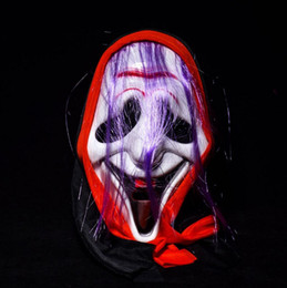 Long Face Mask NZ - Full Face Bloody Ghost Masks scary Masquerade Halloween horror MASKS Costumes Party horrifying volto long hair holiday decoration