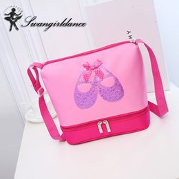$enCountryForm.capitalKeyWord Canada - Girls Pink Ballet Bag Pointe Shoes Paillette Embroidery Cute Dance Bags for Ballet Kids Cross Body Canvas Children Dancing Bags AS8629