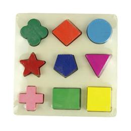 Jigsaw puzzle board children online shopping - 1Pcs Fashion Durable Geometric Wooden Jigsaw Puzzles Kids Education Mental Development Toys for Children board Games