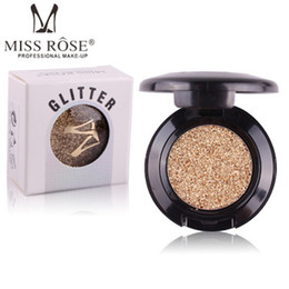 miss rose glitter eye shadow NZ - 2018 New Miss Rose Brand Glitters Single Eyeshadow 24 Colors Diamond Rainbow Make Up Cosmetic Pressed Glitter Eye Shadow Palette