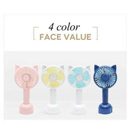 Small Air Conditioning Appliances Fans The Cheapest Price Dmwd Rabbit Bear Mini Cute Fan Usb Charging Hand Holding Desktop Students Portable Large Wind Rechargeable Lithium Battery Buy One Get One Free