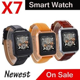 China Hot X7 smart watch with SIM card camera pedometer sleep monitor bluetooth calls micro SD FM radio for Android phones suppliers