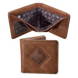$enCountryForm.capitalKeyWord UK - Classic Colour Men Wallet Brown Logo PU Leather Women Coin Bag Purse Card Wallet Fast Free Shippment