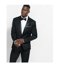 Zielsetzung Cristiano Ronaldo Same Style Suit 2 Button Slim Fit Black Formal Groom Dress 2 Piece Suit Set Hochzeits-partykleid Jacket + Pants +tie Anzüge