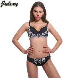 607d41ad2 Julexy Brand New 2018 Big Size B C D Cup Women Bra Set Lace Embroidery Sexy  Bra Brief Sets Intimate Cotton Underwear Panty Set