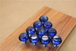 Crystal Pull Cabinet Handles Australia - Modern Colorful 30mm Crystal Glass Diamond Furniture Handle Drawer Single Hole Circular Alloy Kitchen Cabinets Cupboard Door Pull