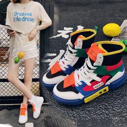 2018 nuevos hip-hop zapatos de tacón alto mujer haoqi gasa street dance  sneakers versión coreana original ulzzang ed4383a548a