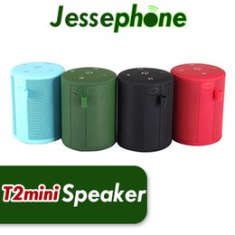 mini super bass bluetooth portable speaker Australia - T2 Mini Waterproof Bluetooth Speaker Portable Wireless Stereo HiFi Outdoor Bathe Support SD TF card FM Radio Super Bass MP3 Player Up SC208