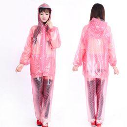 $enCountryForm.capitalKeyWord NZ - Poncho Rain Coat Transparent Raincoat Women Outdoor Rainwear For Regenmantel Chuva Layer Waterproof Raincoat Breathable QQG430