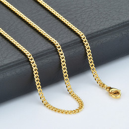 Discount gold twisted chains for men - 20pcs Wholesale Jewelry Chain Men Womens Gold Tone Twist Curb Necklace in Bulk 24