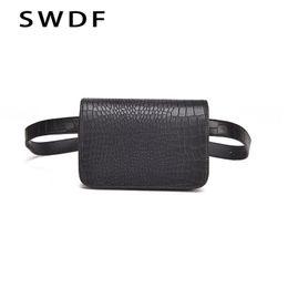 $enCountryForm.capitalKeyWord Canada - SWDF Vintage Waist Bag Women Alligator PU Leather Belt Bag Waist Pack Travel Belt Wallets Fanny Bags Ladies Fit 5.5 inches phone