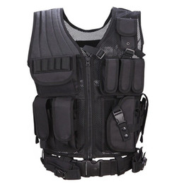 Discount tactical combat vest black - Tactical Adjustable Ultra-light Breathable Combat Training Vest W  P Holster