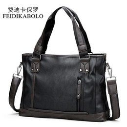 Leather computer bags online shopping - FEIDIKABOLO Famous Brand Man Bag Male Handbags Leather Briefcases Shoulder Bags Laptop Tote Men Crossbody Messenger Bags in