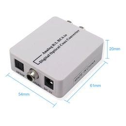 $enCountryForm.capitalKeyWord NZ - high quality RCA Analog to Digital Optical Toslink Coaxial Audio Converter Adapter for TV for Xbox 360 DVD