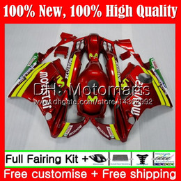 Honda Cbr F2 Red Fairings Australia - Body For HONDA CBR 600F2 FS CBR600 F2 91 92 93 94 46MT19 CBR600FS CBR 600 F2 CBR600F2 1991 1992 1993 1994 Fairing Bodywork Movistar red