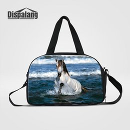 $enCountryForm.capitalKeyWord NZ - Cool Horse Women Travel Duffle Bag Portable Hand Overnight Bags For Students Cotton High Quality Messenger Shoulder Duffel Luggage Handbags
