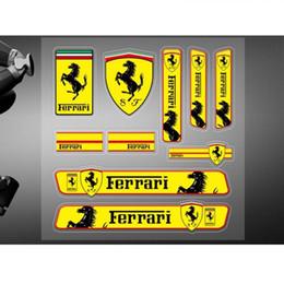 Опт Автомобильные наклейки высокое качество виниловые наклейки гоночный спорт логотип для Ferrari