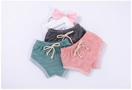 $enCountryForm.capitalKeyWord NZ - INS Summer Baby CANDY COLOR COTTON PP Shorts Infant Strip Bloomer Bottoms Girls And Boys Bloomers Infants Short Pants 5colors free ship B11