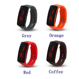 $enCountryForm.capitalKeyWord NZ - 2018 Fashion Sport LED Watches Candy Jelly men women Silicone Rubber Touch Screen Digital Watches Bracelet Wrist watch