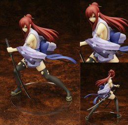 Discount anime figure fairy tail - Fairy Tail 2 Edition Erza Scarlet Doll 1 7 scale painted PVC Action figure Sexy Cute Girl collectible Model Toys Anime
