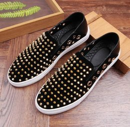 $enCountryForm.capitalKeyWord Canada - New listing luxury men designer dress shoes Rivets loafers Casual shoes men business shoes Smoking Slipper Free shipping 273