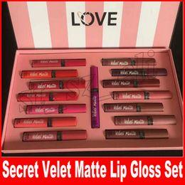 Chinese  Secret Liquid Lipstick set Velvet Matte Secret lipgloss 15pcs set box lip gloss with Gift Paper Bag manufacturers