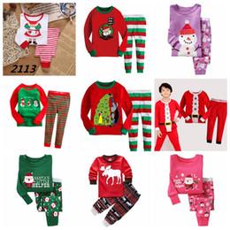 Baby Boys Girls Christmas Pajamas Kids Long Sleeve Xmas PJS Cotton Pajamas  Children Autumn Clothing Set 5e0715cd6